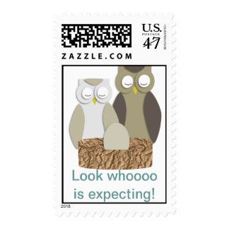 Owl baby expecting stamps