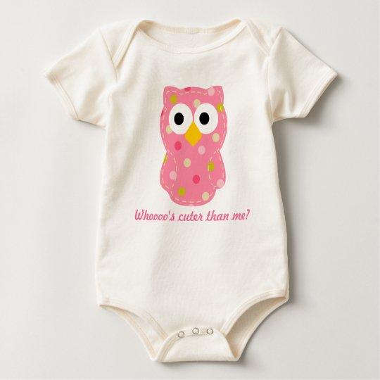 Owl - Baby Girl Baby Bodysuit
