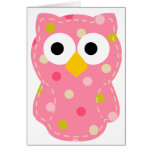 Owl - Baby Girl Greeting Card