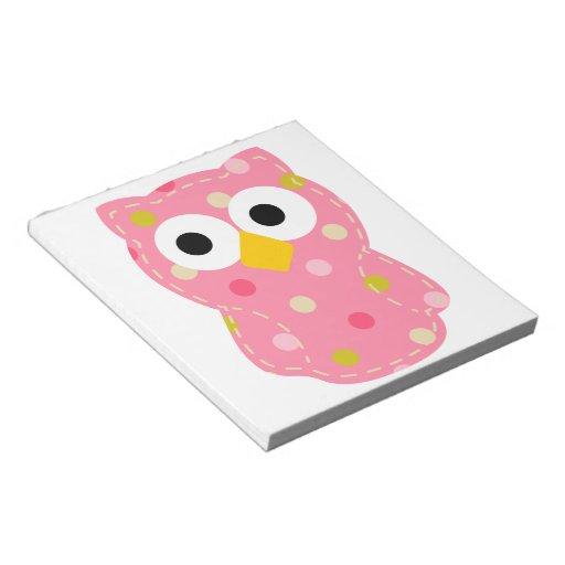 Owl - Baby Girl Memo Notepad