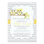 owl, baby, shower, invitation, new, party,