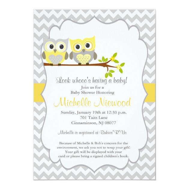 Owl Baby Shower Invitation | Zazzle