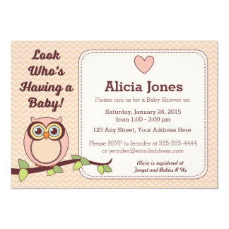 Owl Baby Shower Invitations & Announcements | Zazzle