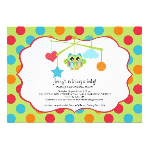 owl baby shower invitations 5 x 7 invitation card zazzle