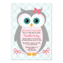 Owl baby shower invitations owl baby shower invitations for girls mint pink filmwisefo Image collections