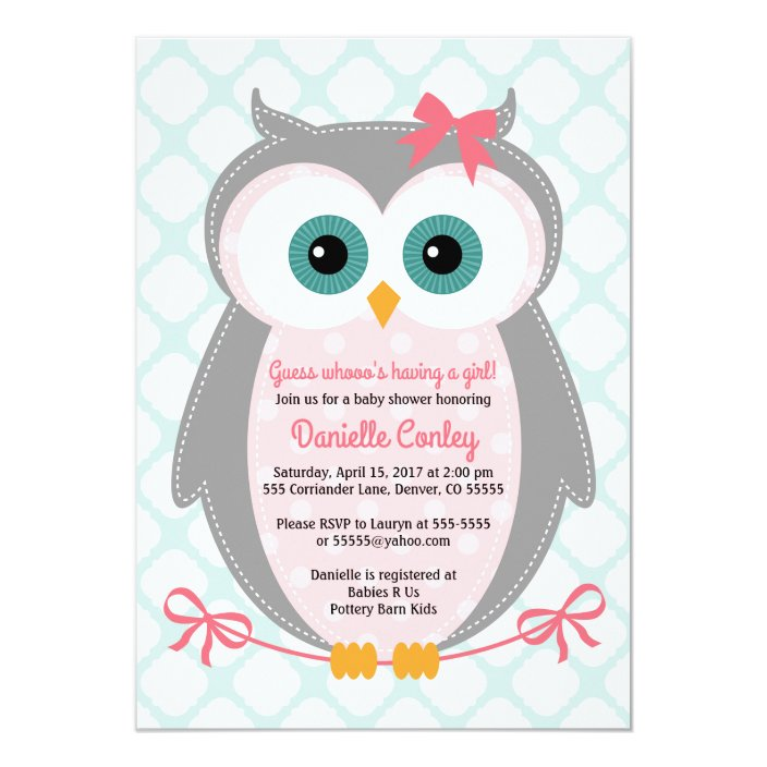Owl Baby Shower Invitations For S
