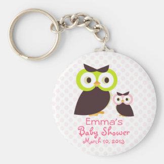 Owl Baby Shower Keychain