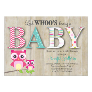 Owl Baby Shower - Look Whoo's Having a Baby Card