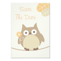 Owl Baby Shower Save The Date Neutral Gender Card