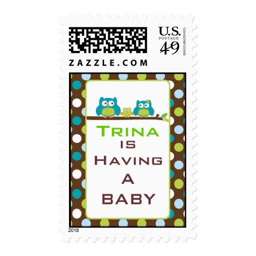 Owl Baby Shower Stamp