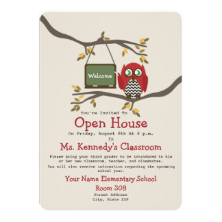 Owl Back To School Classroom Open House Invite