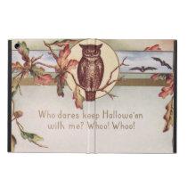 Owl Bat Autumn Fall Color Leaves Leaf iPad Air Cases