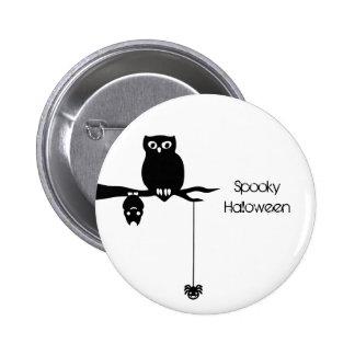 Owl-Bat-Spider Spooky Halloween Buttons