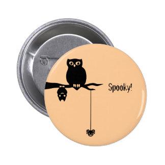 Owl-Bat-Spider Spooky Halloween Pins