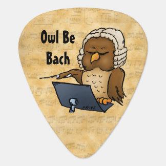Owl Be Bach Funny Guitar Picks Pick