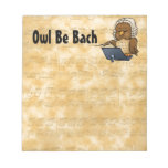 Owl Be Bach Memo Note Pad