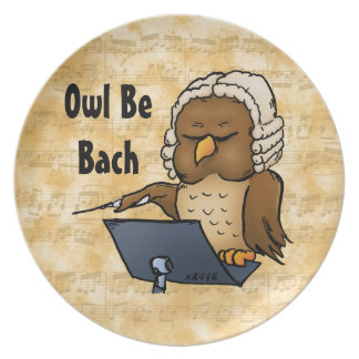Owl Be Bach Party Plates