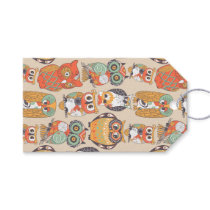 Owl Be Collection Modern Arty Owl Illustrations Gift Tags