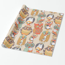 Owl Be Collection | Modern Owl Illustrations Wrapping Paper