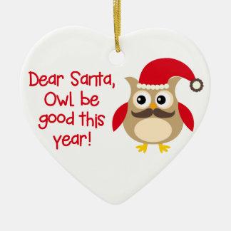 Owl Be Good Ceramic Ornament