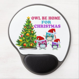 Owl Be Home For Christmas Gel Mouse Pad