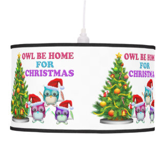 Owl Be Home For Christmas Pendant Lamps