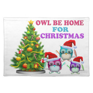 Owl Be Home For Christmas Placemat