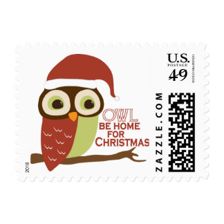 Owl Be Home For Christmas Stamps