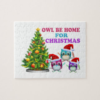 Owl Be Home For Christmas Puzzles