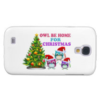 Owl Be Home For Christmas Samsung Galaxy S4 Cover