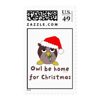 Owl Be Home Postage