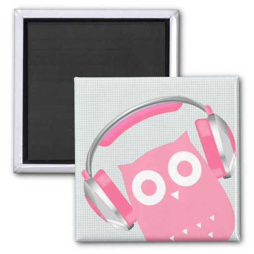 Owl be listening to music! refrigerator magnet