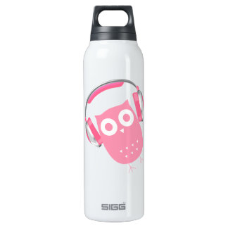 Owl be listening to music! thermos bottle