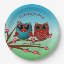 Owl be loving you-Paper Plates