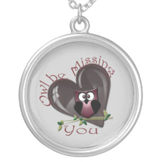 Owl be Missing You Cute Owl and Heart Necklace