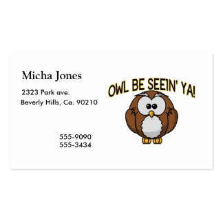 Owl Be Seein' Ya Double-Sided Standard Business Cards (Pack Of 100)