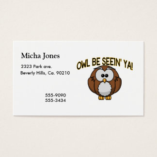 Owl Be Seein' Ya Business Card