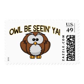 Owl Be Seein' Ya Postage