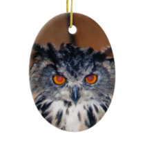 Owl Be seeing you Ceramic Ornament