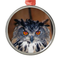Owl Be seeing you Metal Ornament