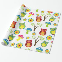 """Owl Be There Glossy Wrapping Paper, 30"""" x 6' Wrapping Paper"""