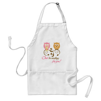 Owl Be Waiting for you Adult Apron