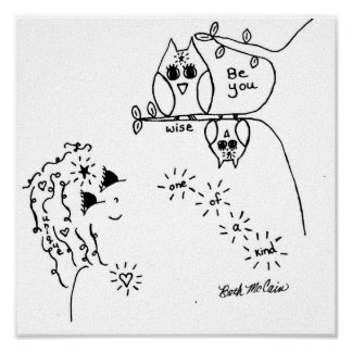 Owl 'Be You'  Canvas Print