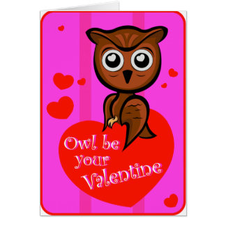 Owl be your valentine card