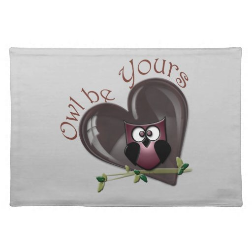 Owl be Yours, Cute Owl American MoJo Placemat
