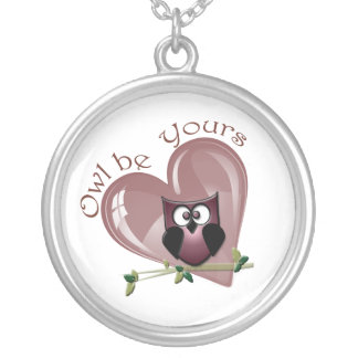 Owl be Yours cute Owl and Heart Necklace