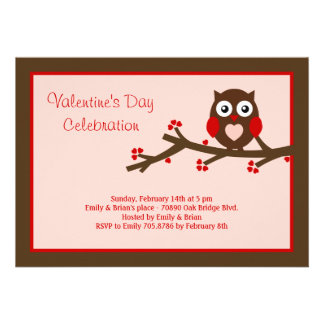 Owl Be Yours Valentine s Party Invitation Personalized Invitations