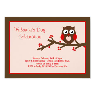 Owl Be Yours Valentine's Party Invitation Personalized Invitations