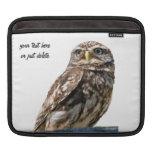 Owl beautiful photo bird custom ipad sleeve