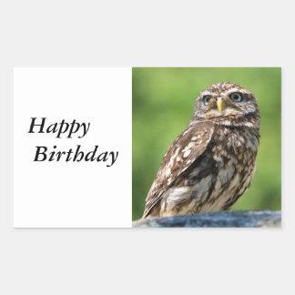 Owl beautiful photo happy birthday stickers